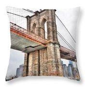 Brooklyn Bridge Close Up Throw Pillow