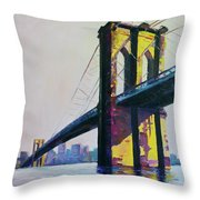 Brooklyn Bridge, N Y  Throw Pillow