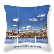 Brooklyn Bridge Pano  Throw Pillow