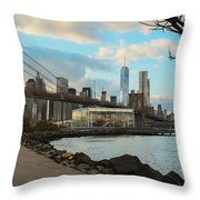 Brooklyn Bridge Park Throw Pillow