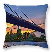 Brooklyn Bridge Collection - 2 Throw Pillow