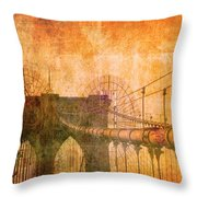 Brooklyn Bridge Vintage Throw Pillow