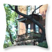 Brooklyn Building And Tree Throw Pillow