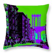 Brooklyn Green Throw Pillow