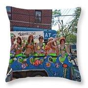 Brooklyn Mermaids Throw Pillow