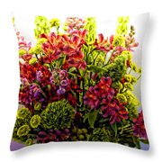 Brooklyn Sidewalk Flower Sale Throw Pillow