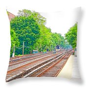 Brooklyn Subway Train Station 2 Throw Pillow