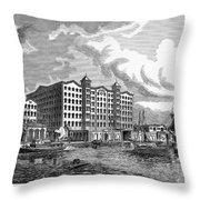 Brooklyn: Sugar Refinery Throw Pillow by Granger