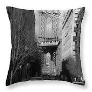 Brooklyn Taxi Throw Pillow