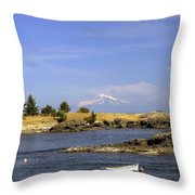 Brooks Point With Mt. Baker Throw Pillow