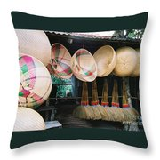 Brooms And Baskets Throw Pillow