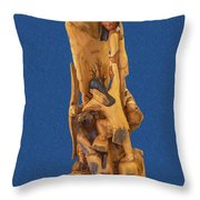 Brother 2, Carved Out Of A Dead Tree By Scott Alan Malinsky In Twin Lakes, Colorado  Throw Pillow
