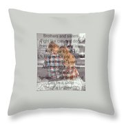 Brother Love Throw Pillow