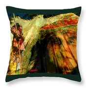 Brother Wind Throw Pillow