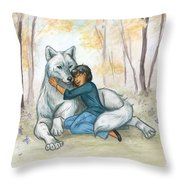 Brother Wolf - Dream Throw Pillow