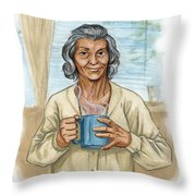 Brother Wolf - Grandmother Issi Throw Pillow by Brandy Woods