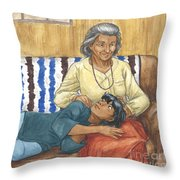 Brother Wolf - Grandmother's Lap Throw Pillow by Brandy Woods
