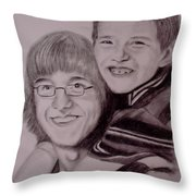 Brothers For Life Throw Pillow