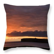 Brough Of Birsay Sunset Throw Pillow