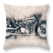 Brough Superior Ss100 - 1924 - Motorcycle Poster - Automotive Art Throw Pillow