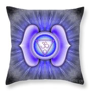 Brow Chakra - Series 4 Throw Pillow