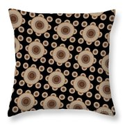 Brown And Black Mandala Pattren Throw Pillow