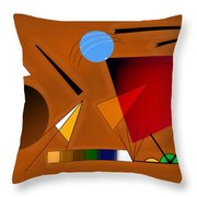 Brown And Red Throw Pillow