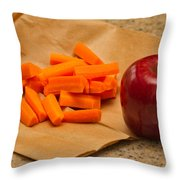 Brown Bag Lunch Throw Pillow