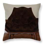 Brown Chair Throw Pillow
