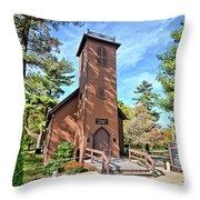 Brown Church Autumn 2 Throw Pillow