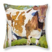 Brown Cow Throw Pillow
