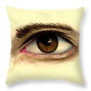 Brown Eye Throw Pillow
