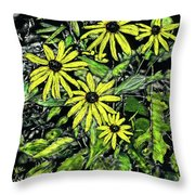 Brown-eyed Susans II Throw Pillow