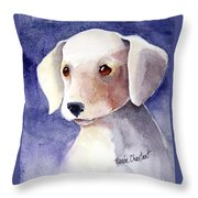 Brown Eyes Throw Pillow