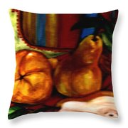 Brown Golden Pears Throw Pillow