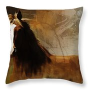 Brown Horse Pose Throw Pillow
