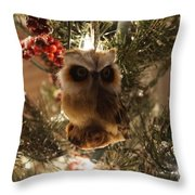 Brown Owl Throw Pillow