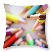 Brown Pencil Throw Pillow