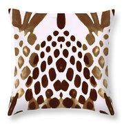 Brown Pineapple Throw Pillow