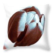 Brown Tulip Throw Pillow