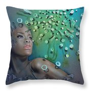 Brownian Motion Throw Pillow