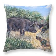 Brownie And Clyde Throw Pillow