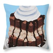Brownie Ice Cream Sandwich Throw Pillow