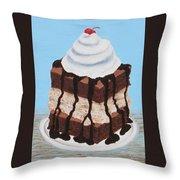 Brownie Ice Cream Sandwich Throw Pillow