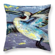 Brownie Into The Sunset Throw Pillow