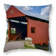 Brownlee Or Scott Covered Bridge Throw Pillow