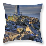 Browns Point Lighthouse Throw Pillow