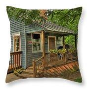 Brownsburg Post Office Throw Pillow