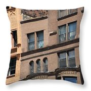 Brownstone Buildings In Chi Town Throw Pillow
