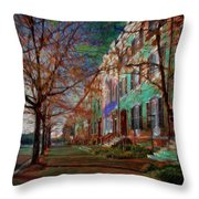 Brownstones At Lafayette Park Throw Pillow